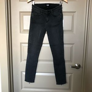 Faded black denim paige jeans